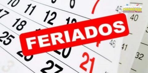 Ministério da Economia divulga feriados e pontos facultativos para 2021| Portal Obidense
