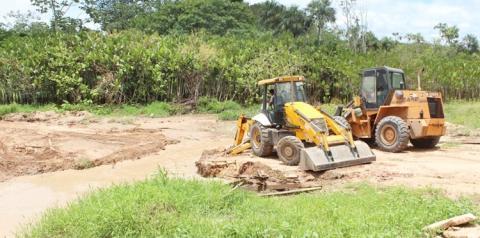 Desvio provisório da Ponte do Bela Vista foi removida na manhã deste Sábado | Portal Obidense