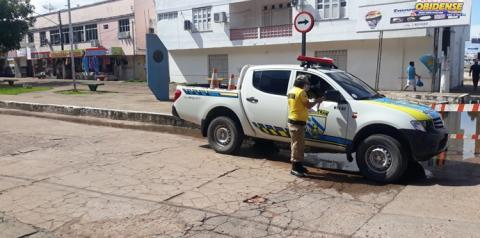 Demutran realiza desvio nas ruas afetadas pelas águas no centro comercial   Portal Obidense