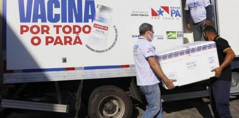 Pará recebe mais 120.400 mil doses de vacinas contra a Covid-19 | Portal Obidense