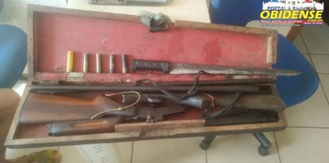 Homem é conduzido para delegacia por portar armas de fogo em Óbidos | Portal Obidense.