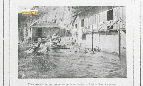 O banhar-se no rio Amazonas junto ao porto de Óbidos – 1907