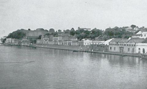 Orla fluvial de Óbidos na década de 1940
