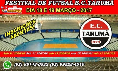 EC Tarumã confirma Festival de Futsal para março