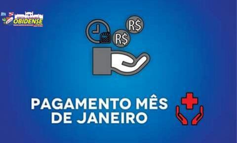 Prefeitura emite comunicado informando o pagamento de salário dos profissionais da saúde.