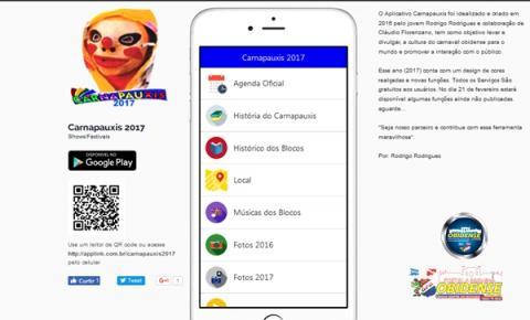 O Aplicativo do Carnapauxis 2017, já está com a versão atualizada e disponível para Download é gratuito.
