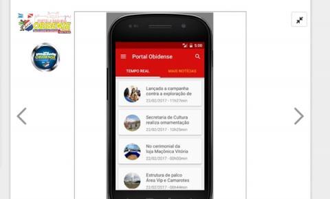 Portal Obidense lança seu APP. O usuários e leitores receberão a notícia simultaneamente em seu celular.