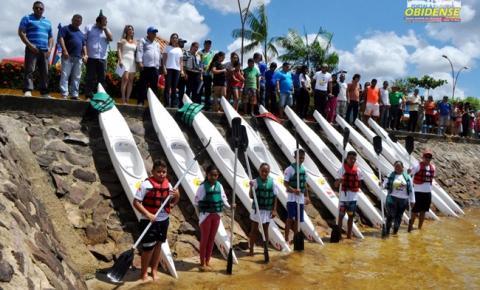 Projeto Pará Aquática inaugura polo no município de Oriximiná, para desenvolver futuros campeões no total 80 integrarão o projeto.