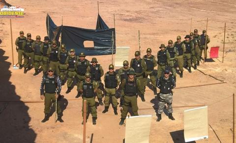 A policia Militar de Óbidos, finalizou o curso e treinamento, simulando a realidade e implantado técnicas no combate a criminalidade.