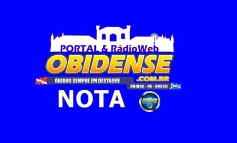 Prefeitura de Óbidos emite nota sobre a falta de merenda escolar em algumas escolas do município.