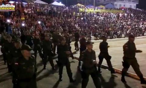 Em Óbidos aconteceu o tradicional desfile da Polícia Militar no dia 7 de setembro.