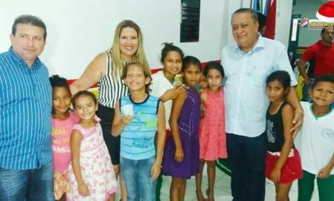 Reinauguração da escola municipal Senador Aloysio da Costa Chaves.
