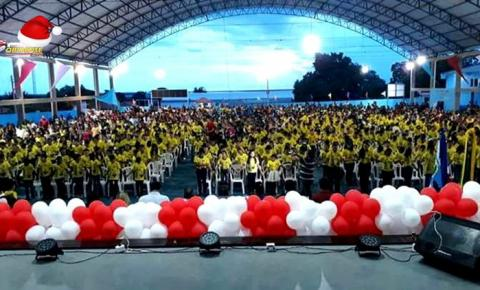 Em média 1.000 alunos participam de cerimônia de formatura do programa educacional e cidadão PROERD em Oriximiná.