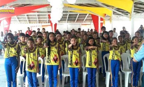Esperança de um futuro melhor, policia Militar forma 80 crianças de comunidades Quilombola em Oriximiná.