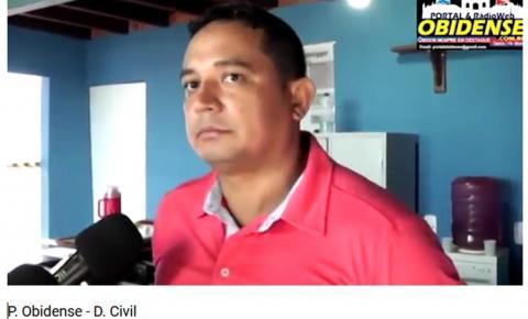 Defesa Civil de Óbidos tem um novo Coordenador, Jamerson Pimentel do Amaral.