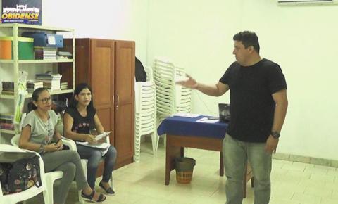 Representatividades discutem os últimos encaminhamentos para a 4ª conferencia municipal de educação em Óbidos.