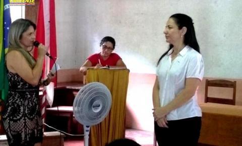 Dra. Célia Gadotti, juíza de Oriximiná em continuo trabalho social, fala na ADOR sobre os direitos dos deficientes.