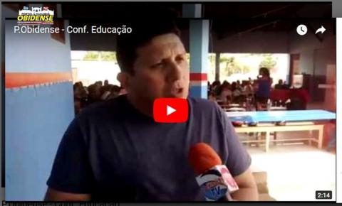 Matéria em vídeo = Presidente do Conselho Municipal de Educação Aloísio Menezes, falou sobre o resultado da Conferência de educação que aconteceu em Óbidos.