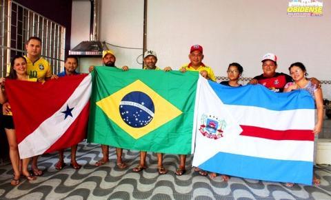 Mesmo com o empate entre Brasil e Suíça, obidenses já programam o próximo encontro para sexta-feira (22) Brasil x Costa Rica