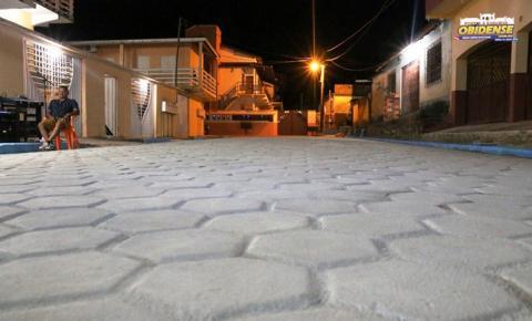 Finalizada e entregue a obra de pavimentação do Beco Inglês de Souza em Óbidos.