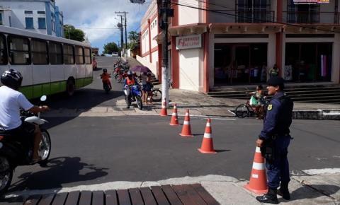 Prefeitura de Oriximiná iniciou os trabalhos de sinalização de transito na cidade