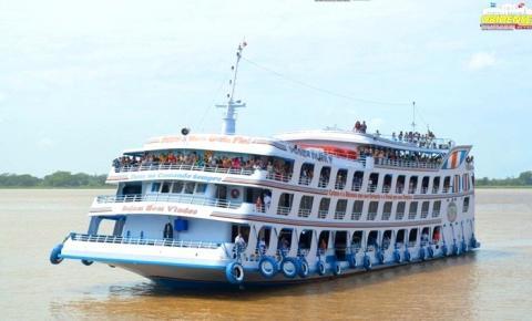 Ferry Boat Comte Paiva, sairá de Manaus com destino a Alenquer e escala em Óbidos excepcionalmente nesta quarta-feira (04) as 12hs.
