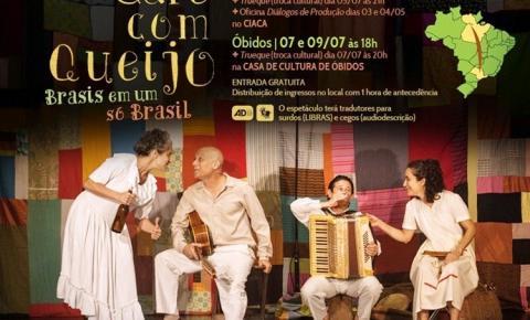 Através de um programa Cultural Óbidos e Oriximiná receberão a peça teatral Café com Queijo do premiado grupo Lume