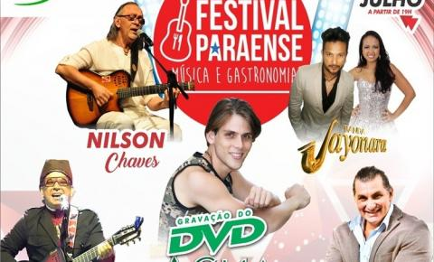 Vai acontecer em Manaus o 2° Festival Paraense, música e gastronomia, dias 21 e 22 no Estúdio 5 em Manaus.
