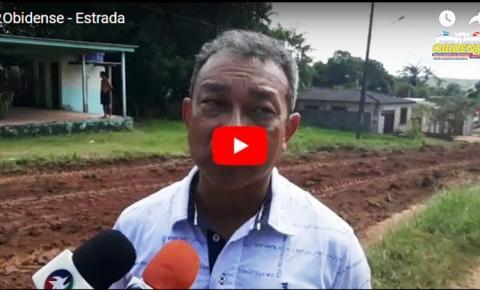 Prefeito de Óbidos, fala sobre o trabalho que está sendo realizado na PA-437 de responsabilidade do estado