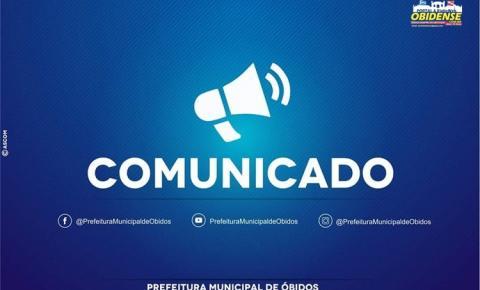 Em comunicado a prefeitura de Óbidos, informa aos servidores da saúde liberação de pagamento nesta quarta-feira (18)