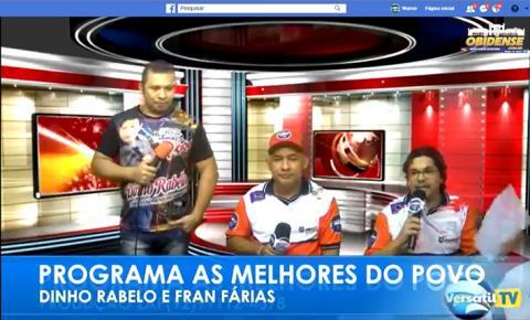 Dinho Rabelo e Fran Farias foram os artistas convidados do programa As Melhores do Povo