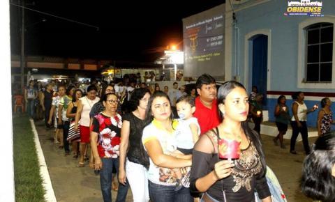 Em Óbidos centenas de fiéis participam das noites de festividade da padroeira de Óbidos, fé, cultura, culinárias fazem parte da programação