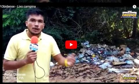"""Portal Obidense denuncia lixo deixado em área de mata da """"CAMPINA"""" em Óbidos."""