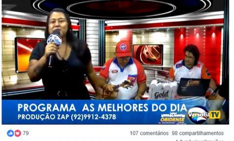 A cantora obidense Joyce Reis foi a convidada do programa As Melhores do Povo da segunda (23)