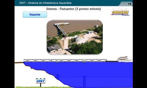 Engenheiros do DNIT estiveram em Óbidos para apresentar o projeto de ampliação e modernização do porto da cidade.