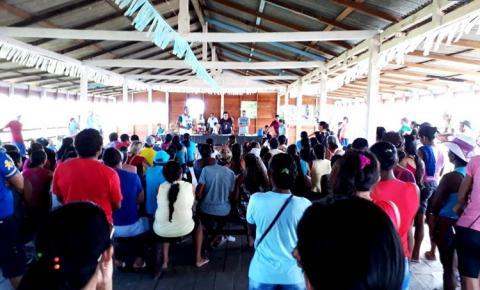 SEMAB e INCRA realizam reunião com comunitários do PAE Paraná de Baixo, área de várzea do município de Óbidos.