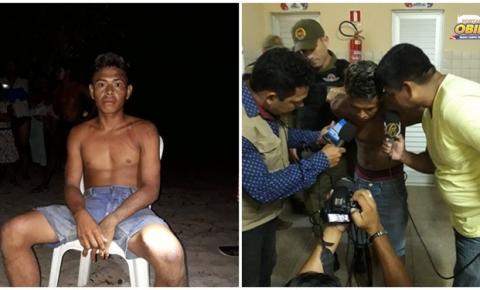 Suspeito que estava foragido nas matas do município de Oriminá, foi capturado na noite da segunda (13) por populares da região do Arajá