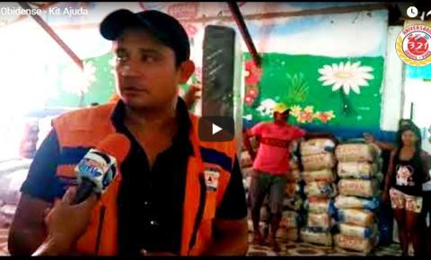 Coordenador da defesa Civil de Óbidos Jamerson Amaral, falou sobre a ação da entrega dos Kit´s no bairro de Fátima