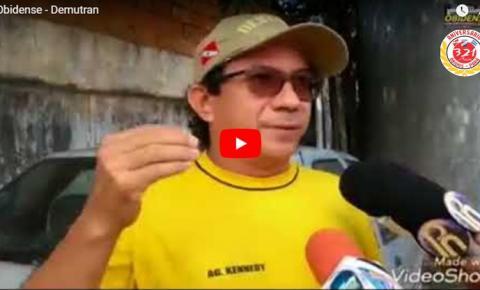 O chefe de divisão do transporte escolar, Moisés Soares dos Santos, fala ao Portal Obidense sobre veículo que foi apreendido por fazer transporte escolar irregular