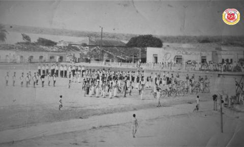 Homenagem à Pátria em Óbidos na década de 1960