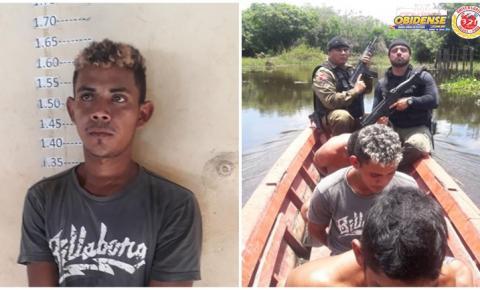 Em Alenquer polícia Militar e Civil caçaram homicida nas matas do município por assassinato.
