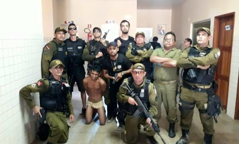 Polícia de Oriximiná, perseguiu e prendeu dois suspeitos de ter participação na Morte de Ezequiel.