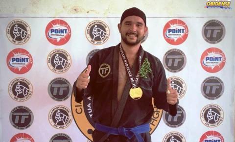 O obidense Ândrick foi medalha de ouro no campeonato de jui-jitsu em Santarém