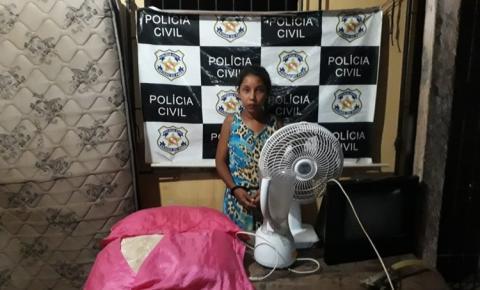 Em Alenquer Polícia Civil recupera bens roubados e prende suspeita.