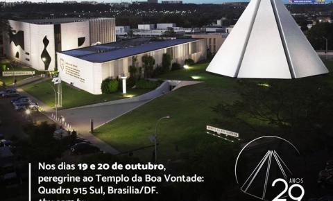 Templo da Boa Vontade completa 29 anos com eventos destinados à família