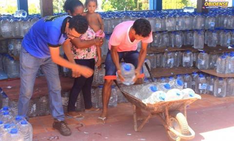 Defesa civil de Óbidos realiza entrega de kits humanitários para famílias de comunidades rurais do município