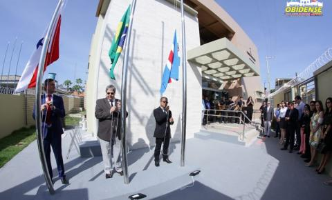 Em Óbidos, no oeste do Pará, foi inaugurado nesta sexta-feira (19) as novas instalações do fórum da cidade.