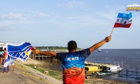 A seleção tricampeã da Copa Oeste é recebida de braços aberto e com festa pelos orgulhosos obidenses.