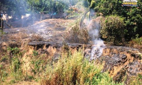 Tempo seco aumenta números de casos de incêndios nas áreas urbanas do município de Óbidos.