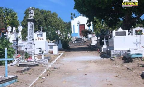 Prefeitura de Óbidos, começa serviço de limpeza e manutenção do cemitério São João Batista, para o Dia de Finados